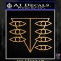 Evangelion SEELE Logo Decal Sticker Metallic Gold Vinyl Vinyl 120x120