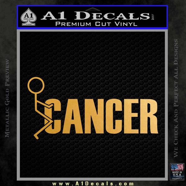 Fuck Cancer STICK Figure Vinyl Decal Sticker A Decals - How to make vinyl decals stick