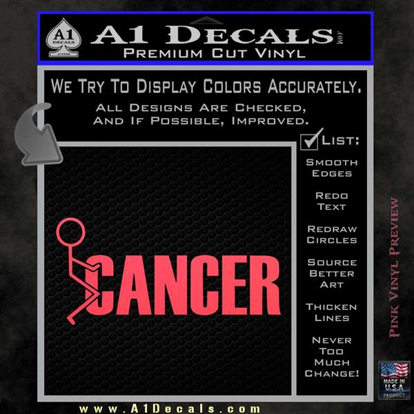 Fuck Cancer STICK Figure Vinyl Decal Sticker A Decals - How to make vinyl decals stick better
