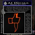 Facebook Like Knife Decal Sticker Orange Vinyl Emblem 120x120