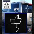 Facebook Like Knife Decal Sticker White Emblem 120x120