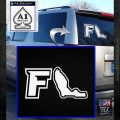 Florida FL Decal Sticker Outline White Emblem 120x120