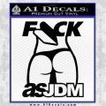 Fuck As JDM Decal Sticker Ass Black Logo Emblem 120x120
