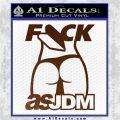 Fuck As JDM Decal Sticker Ass Brown Vinyl 120x120