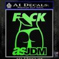 Fuck As JDM Decal Sticker Ass Lime Green Vinyl 120x120