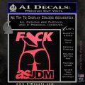 Fuck As JDM Decal Sticker Ass Pink Vinyl Emblem 120x120