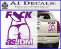 Fuck As JDM Decal Sticker Ass Purple Vinyl 120x97