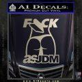 Fuck As JDM Decal Sticker Ass Silver Vinyl 120x120