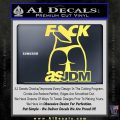 Fuck As JDM Decal Sticker Ass Yelllow Vinyl 120x120
