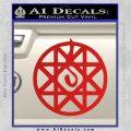 Full Metal Alchemist Alphonse Blood Seal Decal Red Vinyl 120x120
