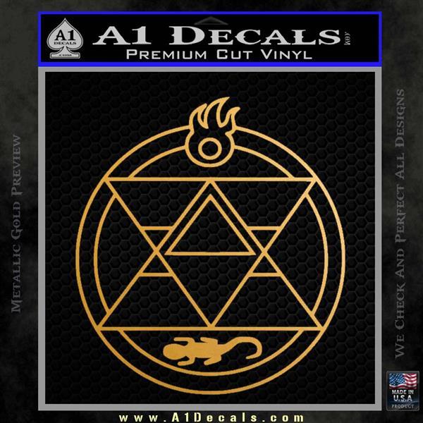 Fullmetal Alchemist Roy Flame Transmutation Decal Sticker A1 Decals