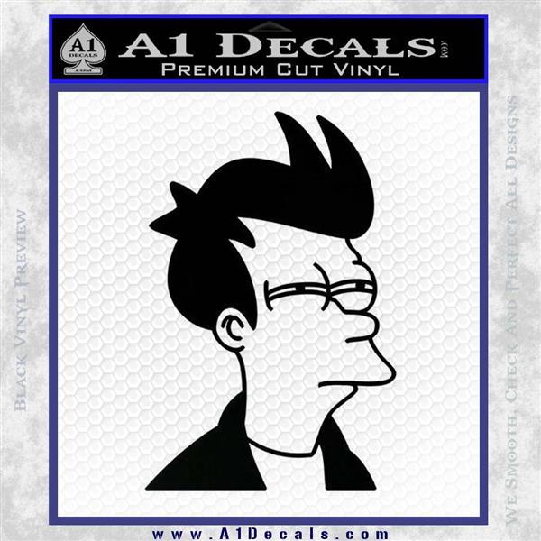 Futurama Fry Decal Sticker DP Black Logo Emblem