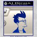 Futurama Fry Decal Sticker DP Blue Vinyl 120x120