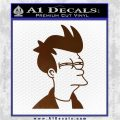Futurama Fry Decal Sticker DP Brown Vinyl 120x120