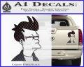 Futurama Fry Decal Sticker DP Carbon Fiber Black 120x97