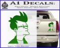 Futurama Fry Decal Sticker DP Green Vinyl 120x97