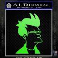 Futurama Fry Decal Sticker DP Lime Green Vinyl 120x120