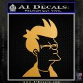Futurama Fry Decal Sticker DP Metallic Gold Vinyl Vinyl 120x120