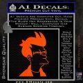 Futurama Fry Decal Sticker DP Orange Vinyl Emblem 120x120