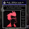 Futurama Fry Decal Sticker DP Pink Vinyl Emblem 120x120