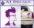 Futurama Fry Decal Sticker DP Purple Vinyl 120x97