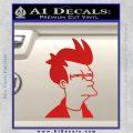 Futurama Fry Decal Sticker DP Red Vinyl 120x120