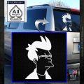 Futurama Fry Decal Sticker DP White Emblem 120x120