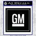 GM General Motors Decal Sticker SQ Black Logo Emblem 120x120