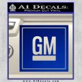 GM General Motors Decal Sticker SQ Blue Vinyl 120x120