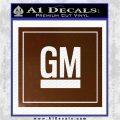 GM General Motors Decal Sticker SQ Brown Vinyl 120x120