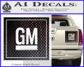 GM General Motors Decal Sticker SQ Carbon Fiber Black 120x97
