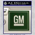 GM General Motors Decal Sticker SQ Dark Green Vinyl 120x120