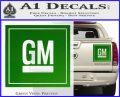 GM General Motors Decal Sticker SQ Green Vinyl 120x97