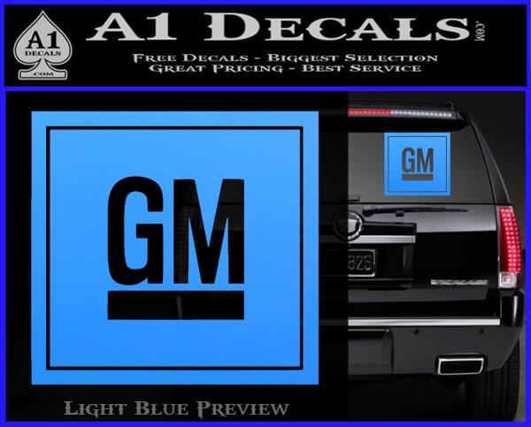 Gm General Motors Decal Sticker Sq 187 A1 Decals