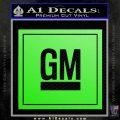 GM General Motors Decal Sticker SQ Lime Green Vinyl 120x120