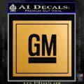 GM General Motors Decal Sticker SQ Metallic Gold Vinyl Vinyl 120x120