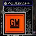 GM General Motors Decal Sticker SQ Orange Vinyl Emblem 120x120