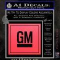 GM General Motors Decal Sticker SQ Pink Vinyl Emblem 120x120