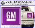 GM General Motors Decal Sticker SQ Purple Vinyl 120x97