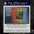 GM General Motors Decal Sticker SQ Sparkle Glitter Vinyl 120x120
