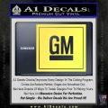 GM General Motors Decal Sticker SQ Yelllow Vinyl 120x120