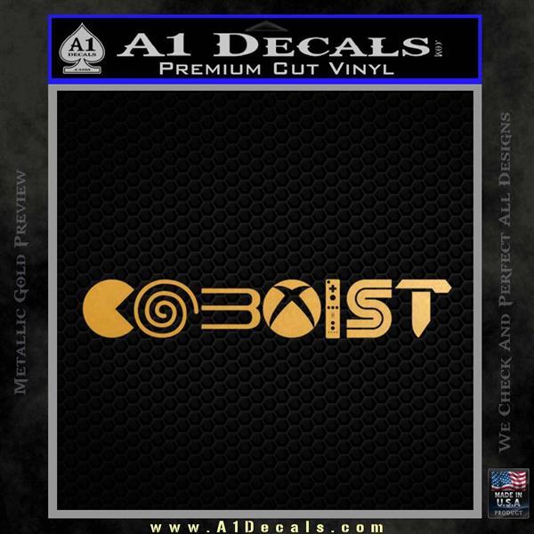 Gamer Coexist PS4 Xbox One Vinyl Decal Sticker Metallic Gold Vinyl Vinyl