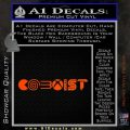 Gamer Coexist PS4 Xbox One Vinyl Decal Sticker Orange Vinyl Emblem 120x120