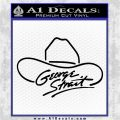 George Strait Decal Sticker Cowboy Hat Black Logo Emblem 120x120