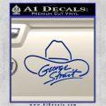 George Strait Decal Sticker Cowboy Hat Blue Vinyl 120x120
