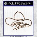 George Strait Decal Sticker Cowboy Hat Brown Vinyl 120x120