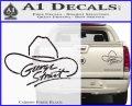 George Strait Decal Sticker Cowboy Hat Carbon Fiber Black 120x97