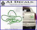 George Strait Decal Sticker Cowboy Hat Green Vinyl 120x97