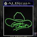 George Strait Decal Sticker Cowboy Hat Lime Green Vinyl 120x120