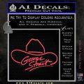 George Strait Decal Sticker Cowboy Hat Pink Vinyl Emblem 120x120